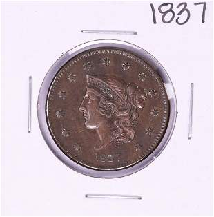 1837 Coronet Head Large Cent Coin