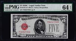 1928C $5 Legal Tender Note Fr.1528 PMG Choice