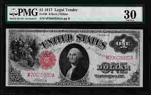 1917 $1 Legal Tender Note Fr.38 PMG Very Fine 30