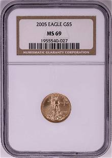 2005 $5 American Gold Eagle Coin NGC MS69