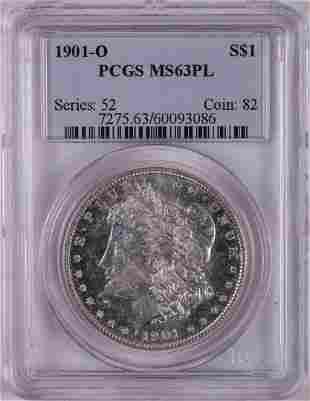 1901-O $1 Morgan Silver Dollar Coin PCGS MS63PL