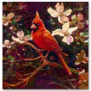 """Simon Bull """"Cardinal"""" Limited Edition Giclee on Canvas"""