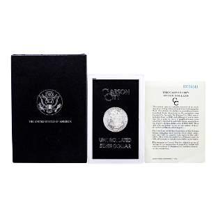 1880-CC Reverse of 78' $1 Morgan Silver Dollar Coin GSA