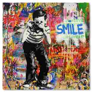 """Mr. Brainwash """"Smile"""" One-of-a-Kind Hand Signed"""