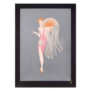 """Erte (1892-1990) """"Flapper"""" Limited Edition Serigraph On"""