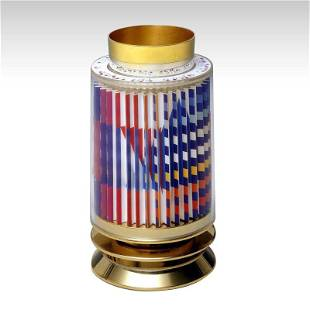 """Yaacov Agam """"Kiddush Cup"""" 24K Gold Plated Sterling"""