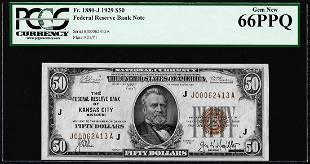 1929 $50 Federal Reserve Bank Note Kansas City