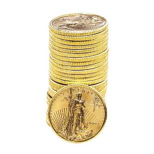 Lot of (25) 1999 $5 American Gold Eagle Coins