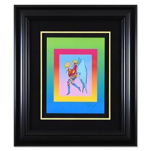 """Peter Max """"Tip Toe Floating on Blends"""" Limited Edition"""