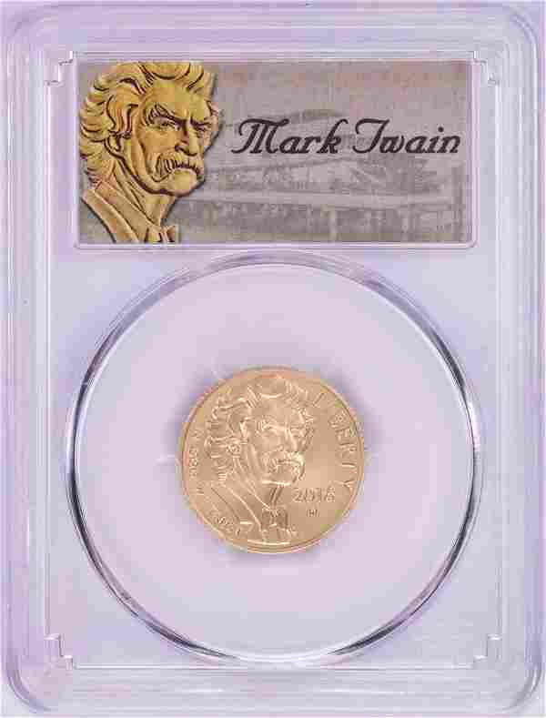 2016-W $5 Mark Twain Commemorative Gold Coin PCGS MS70