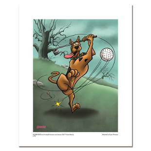 """Hanna-Barbera """"Scooby Golf"""" Limited Edition Giclee On"""