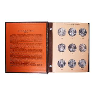 Set of 1986-2021 $1 American Silver Eagle Coins in