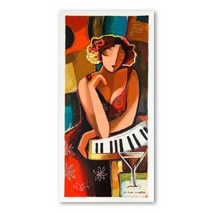 """Michael Kerzner """"The Pianist"""" Limited Edition Serigraph"""