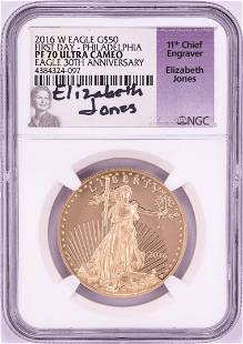 2016-W $50 Proof American Gold Eagle Coin NGC PF70