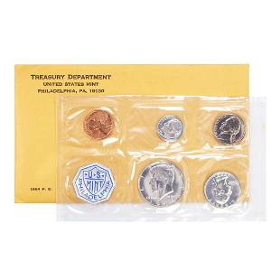 1964 (5) Coin Proof Set in Envelope