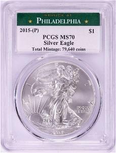 2015-(P) Struck at Philadelphia $1 American Silver