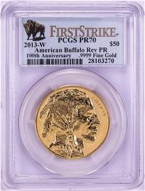 2013-W $50 Reverse Proof American Buffalo Gold Coin