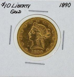 1890 $10 Liberty Head Gold Coin