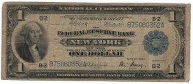 1918 $1 Flying Eagle Federal Reserve Bank Note