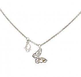 Authentic Christian Dior Butterfly Necklace