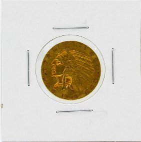 1909-d $5 Xf Indian Head Gold Coin