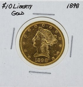 1898 $10 Liberty Head Gold Coin