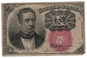 1874 10 Cent Red Seal Fractional Currency