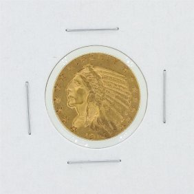 1914-s $5 Xf Indian Head Gold Coin