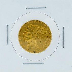 1911 $5 Au Indian Head Half Eagle Gold Coin