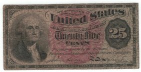 March 3, 1863 25 Cent Fractional Currency
