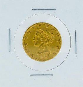 1906-s $5 Xf Liberty Head Half Eagle Gold Coin