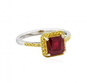 14kt White Gold 2.09ct Ruby And Diamond Ring