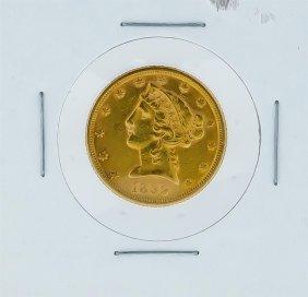 1899-s $5 Liberty Head Half Eagle Gold Coin