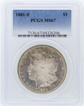 1881-s Pcgs Ms67 Morgan Silver Dollar