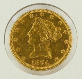 1894 $10 Liberty Head Gold Eagle Coin
