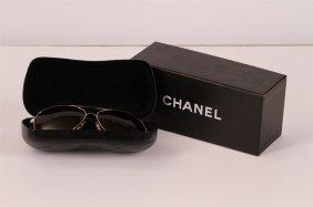 Authentic Chanel Aviator Sunglasses