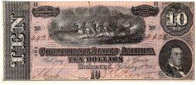 $10 1864 Richmond Virginia Confederate States Of