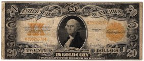 1922 $20 Large Gold Certificate Speelman White