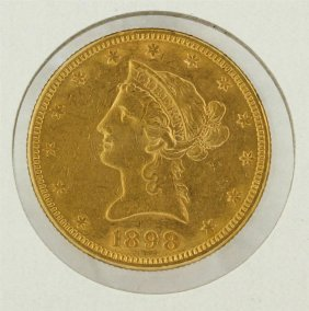 1898 $10 Liberty Head Gold Eagle Coin