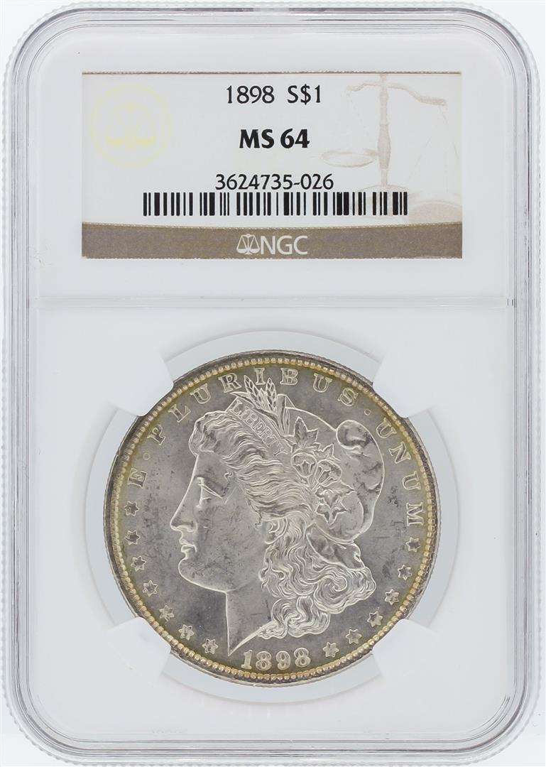 1898 NGC MS64 Morgan Silver Dollar