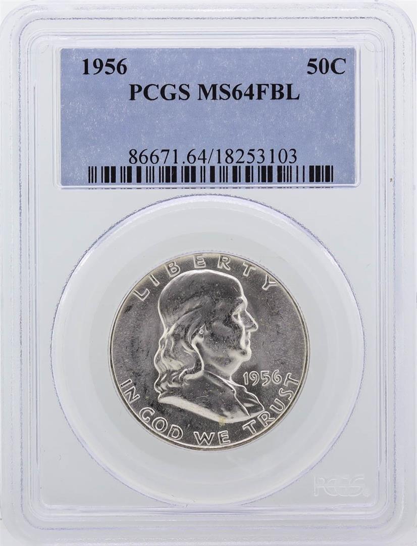 1956 Franklin Half Dollar PCGS Graded MS64FBL