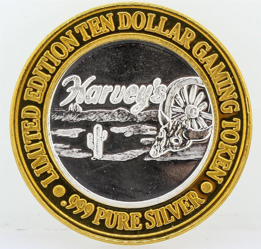 Harvey's Lake Tahoe $10 Casino Gaming Token .999 Fine