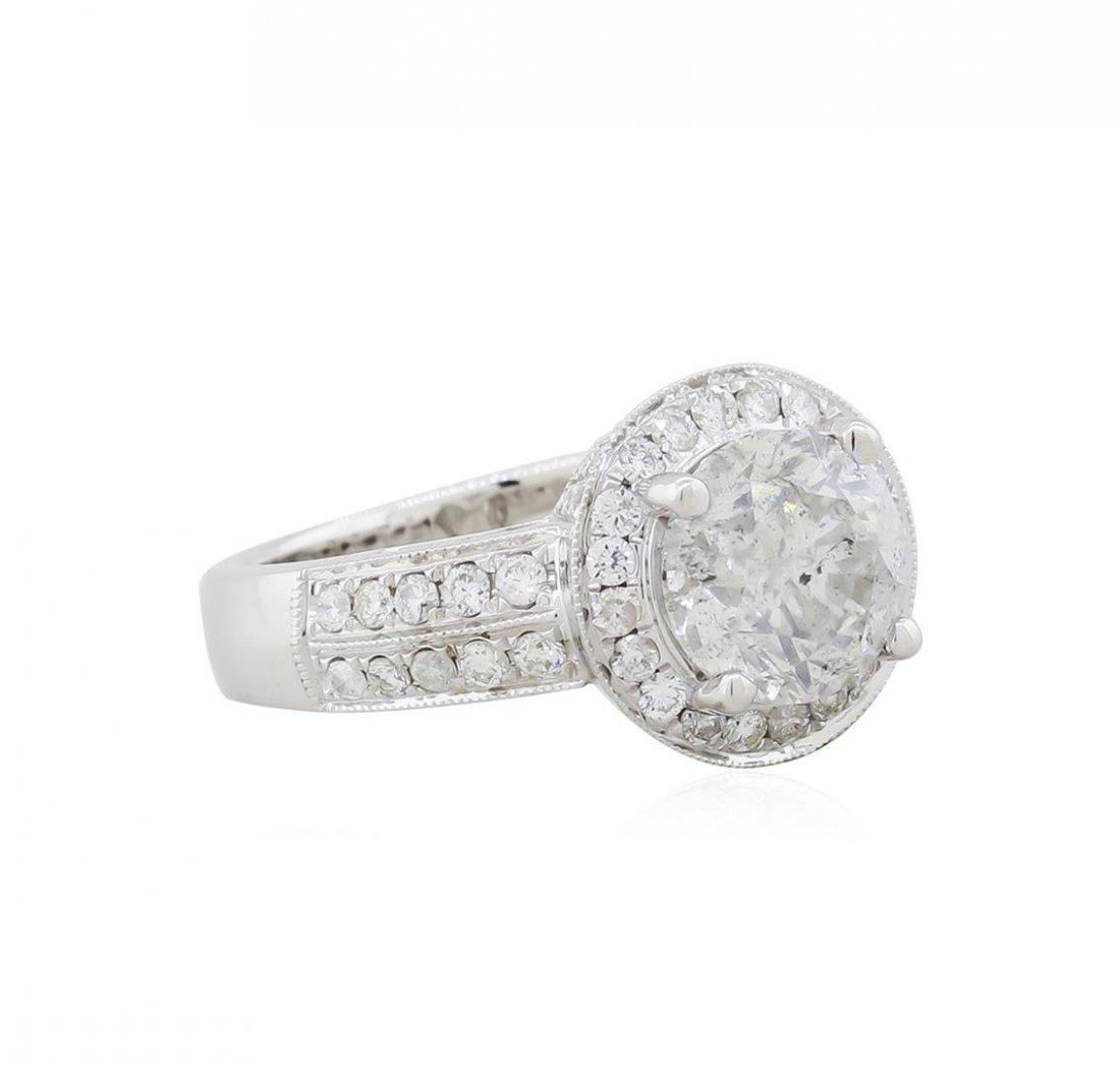 14KT White Gold 3.22ctw Round Brilliant Cut Diamond