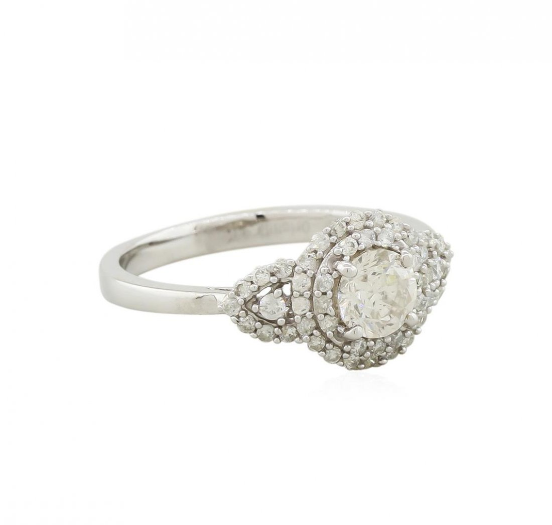 14KT White Gold 0.96ctw Round Brilliant Cut Diamond