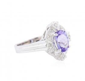 14kt White Gold 1.67ct Tanzanite And Diamond Ring