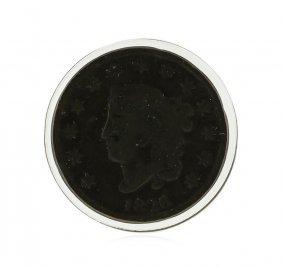 1826 Large Cent Marton Head Coin