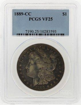 1889-cc $1 Morgan Silver Dollar Pcgs Graded Vf25