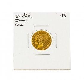 1911 $2 1/2 Indian Head Quarter Eagle Gold Coin