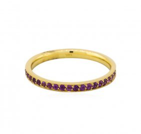 14kt Yellow Gold .36ctw Amethyst Eternity Band Ring