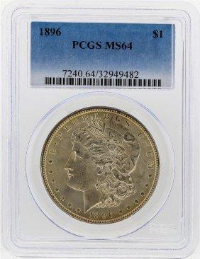 1896 $1 Morgan Silver Dollar Pcgs Graded Ms64